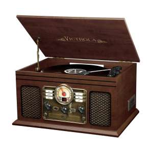 Victrola Nostalgic Classic Wood Bluetooth Turntable