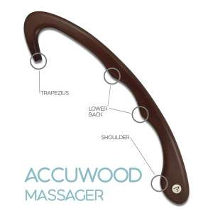 10. Accuwood Trigger Point Self Massager Tool for Neck & Shoulder - Mahogany Tint