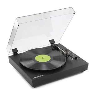 Archeer Vintage Bluetooth Vinyl Turntable Record Player