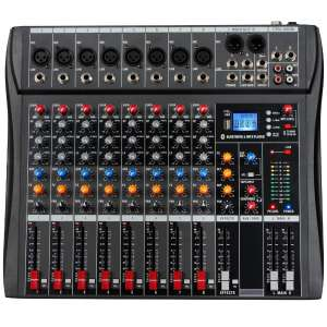Depusheng Bluetooth USB 8 Channel Audio Mixer
