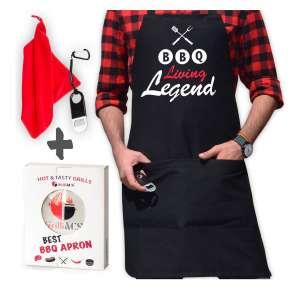 10. GrilliACS Grill BBQ Aprons for Men