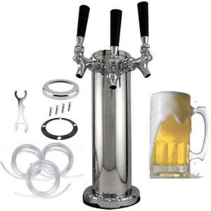 10. Newestseller 3 Tap Triple Stainless Steel Beer Tower