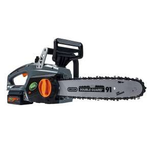 10. Scotts LCS31224S 24-Volt 2.5Ah Lithium-Ion Battery 12 in. Cordless Chainsaw