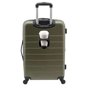 "Wrangler 20"" Spinner Luggage with USB Charging Port, Olive Green"