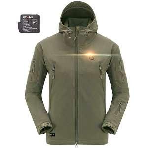 DEWBU Outdoor Soft Shell Heated Coat