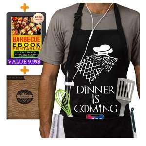 2. Famgem Kitchen Chef Bib Grill master Aprons for Men/Women