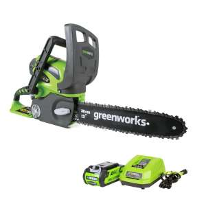 3. Greenworks 40V 12-Inch Cordless Chainsaw with 2.0 AH Battery