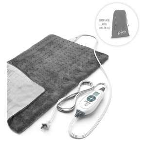4. Pure Enrichment Fast-Heating PureRelief XL Ultra-Soft Heating Pad (Charcoal Gray)