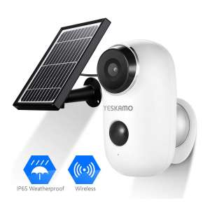 4. YESKAMO Solar Powered Security Camera System