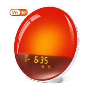 5. LATME Sunrise Alarm Clock with Alexa Google Home (White-Smart)