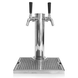 5. Proper Pour Stainless Steel Double Faucet Beer Tower