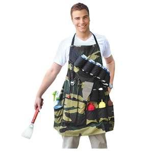6. BigMouth Inc Sergeant BBQ Grill Master Apron