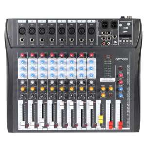 ammoon CT80S-USB 48V Phantom Power 8 Channel Digital Audio Mixer