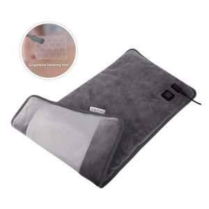 7. BRIGENIUS Far Infrared 3 Heat Settings Electric Heating Pad with Auto Shut-off