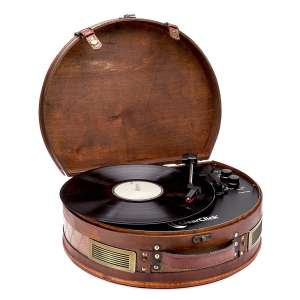 ClearClick Vintage Suitcase Turntable