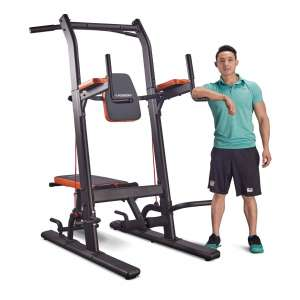 7. HARISON Multifunction Chin-up Power Tower Sit Up Station with Adjustable Height