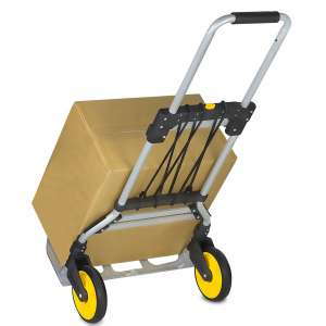 Mount-It! 264 Lb Capacity Folding Hand Truck With Telescoping Handle
