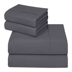 7. Utopia Bedding 4-Piece Bed Sheet Set