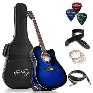 Ashthorpe Full-Size Cutaway Acoustic Guitar