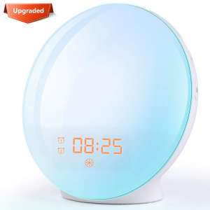 8. FITFORT Alarm Clock with Sunrise/Sunset Simulation, Ideal for Gift