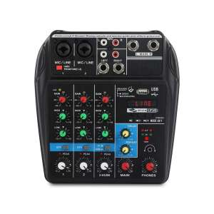 XTUGA A4 4-Channels Bluetooth USB Audio Mixer