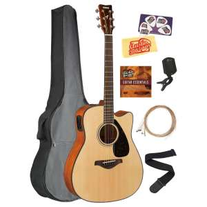 Yamaha Solid Top Folk Acoustic-Electric Guitar