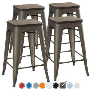 UrbanMod 24-Inch Kitchen Counter Height Bar Stools