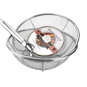 10. Extreme Salmon Heavy Duty Vegetables Grill Basket with Handles