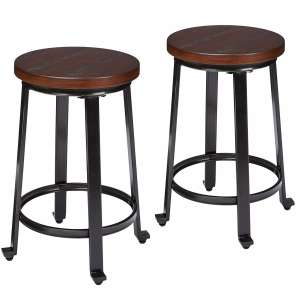 Ashley Rustic Signature Design Brown Counter Height Bar Stool