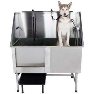 PawBest Stainless Steel Dog Grooming Bath Tub