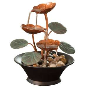 Bits and Pieces - Indoor Water Lily Water Fountain