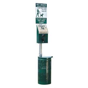 DOGIPOT 1003-L Pet Station, Forest Green