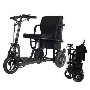 EBEI Folding Electric Tricycle Scooters – Support 280 lbs Weight (19 Mile)