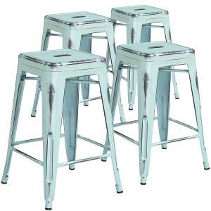 Flash Furniture 4 Pk. 24 inches High Backless Counter Height Stool