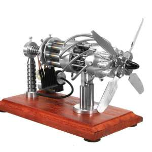 WOLFBUSH 16 Cylinders Swash Hot Air Stirling Engine Toy