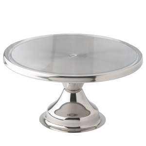 Winco CKS-13 Stainless Steel Cake Stand, 13-Inch