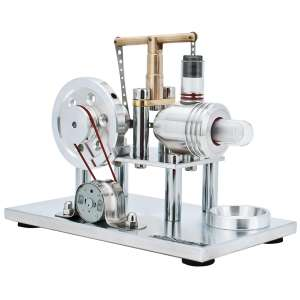 DjuiinoStar Hot Air Solid Metal Construction Stirling Engine Electricity Generator