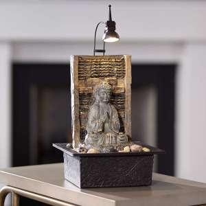 John Timberland Namaste Zen Buddha Tabletop Water Fountain