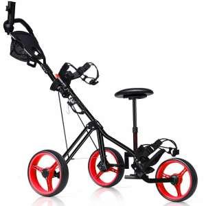 Tangkula Golf Push Cart with Seat
