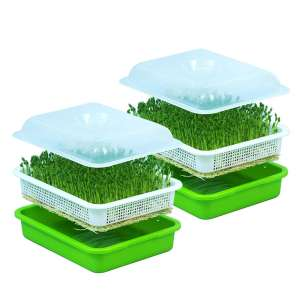 Anjoy 2pcs Seed Sprouter Tray