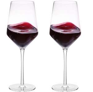 Bella Vino Hand Blown Crystal Wine Glasses