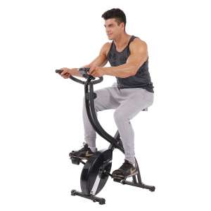 PLENY Foldable Upright Exercise Bikes with Phone Holder