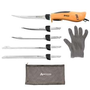 6. American Angler Electric Fillet Knife with 5 Stainless Steel Blades