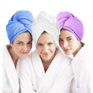 6. Laluztop Microfiber Hair Towel