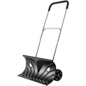 "ORIENTOOLS Snow Shovel with 6"" Wheels (25"" Blade)"
