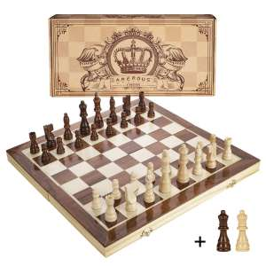 Amerous 15 Inches Magnetic Wooden Chess Set