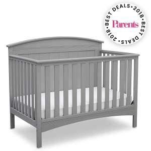Delta Children Solid Panel Convertible Baby Crib, Grey