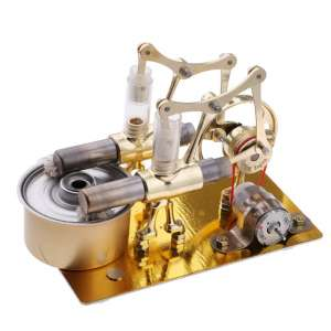 Flameer Mini 2-Cylinder Hot Air Electricity Generator Stirling Engine