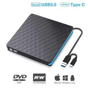 M WAY DVD Drive USB 3.0 Type C External DVD Drive