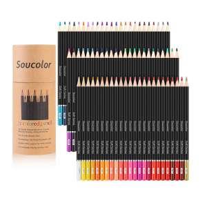 7. Soucolor 72-Color Colored Pencils